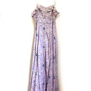 Forever 21 lavender floral maxi dress large